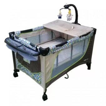 Toy Collections Baby 1st P510DCR New Baby Playpen Crib (OliveGreen/Brown)