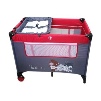 Toy Collections IRDY P529BJ Space Saver Playpen (Red)