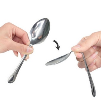 TOY Novelty Mind Bending Spoon Close Up Magic Trick Stage Show Easy Use Repeatedly - intl