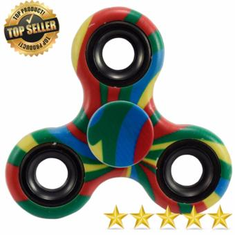 Tri Fidget Hand Finger Spinner Tri-Spinner Spin Widget Focus Toy 2(Multi Color)