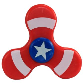 Tri Gear Gyro Fidget Spinner Star Fish Blue/Red