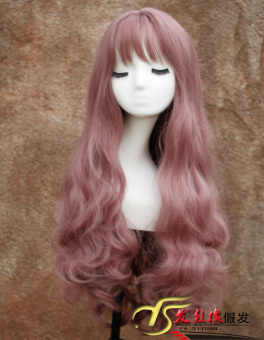 Ulzzang Lolita gray Air celebrity inspired wig