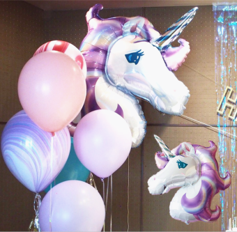 Unicorn Children's birthday party decorative balloon