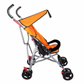 Unicorn Selected Baby Stroller Simple Umbrella Style Black Handle(Orange) - 3