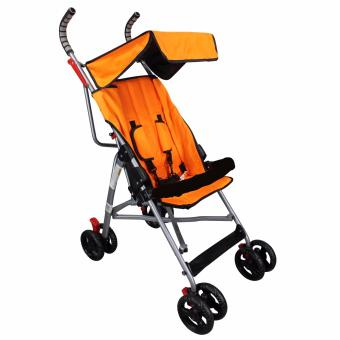 Unicorn Selected Baby Stroller Simple Umbrella Style Black Handle(Orange)