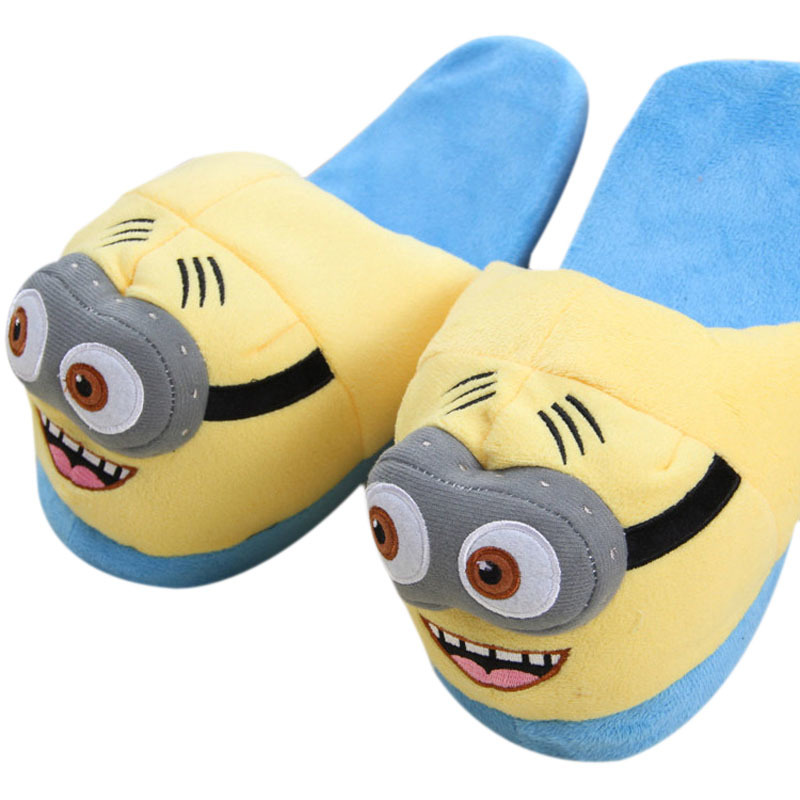 ... Unisex Cute Despicable Me Minions Soft Plush Indoor Warm Slipperfor Winter Plush Puppets - intl ...