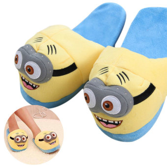 Unisex Cute Despicable Me Minions Soft Plush Indoor Warm Slipperfor Winter Plush Puppets - intl Price Philippines