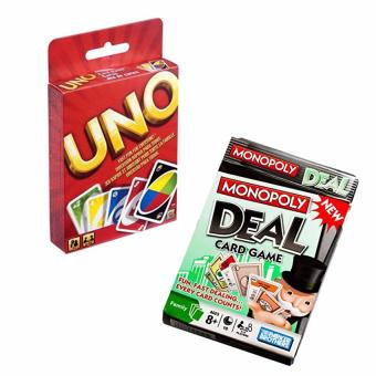 Uno Card and Monopoly Deal Card Game (pls read what's in the box)