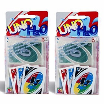 UNO Card Game Plastic Water proof H2O, Uno Cards for Family Games 2pc set