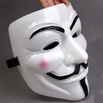 V Face Mask for Vendetta Mask Film Guy Fawkes Fancy CosplayAnonymous Halloween Masks Fancy Dress Costume