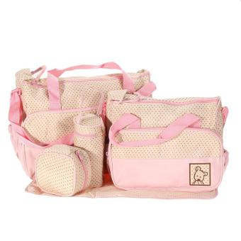 VALIND 5pcs Baby Pad Diaper Nappy Changing Tote Mummy Pink