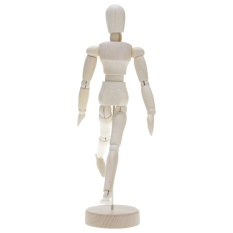 PHP 394. Vanker-Novelty Wooden Movable Limbs Human Figure Model Artist Sketch Draw ...