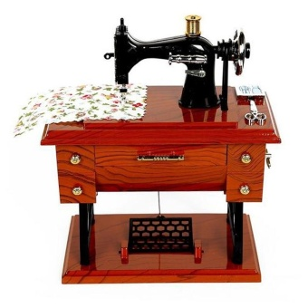 Vintage Sewing Machine Music jewelry Box Model Musical Decoration Accessories - intl