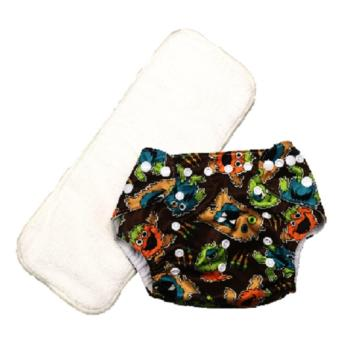 Washable Reusable Cloth Baby Diaper with 3-Layer Microfiber Insert
