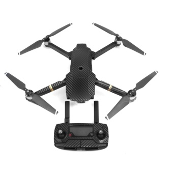 Waterproof Carbon Fiber Stickers RC Aircraft Skin Decals Wrap forDJI Mavic Pro Drone,Black - intl Price Philippines
