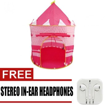 Wawawei H801 Kids Castle Tent (Pink) with free Stereo In-EarHeadphones for iphone (White) Price Philippines