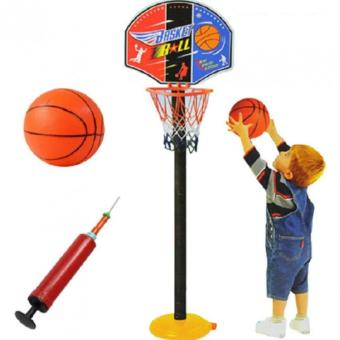 Wawawei Super SPOT Set Basketball Kids Toddler Baby IndoorAdjustable Basketball Hoop Toy Set Stand Ball Pump 9602