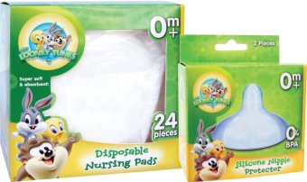 WB Disposable Nursing Pad with WB Silicone Nipple Protector