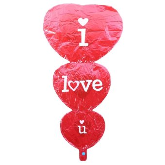 Wedding Celebration I Love You Heart Foil Balloons PartyDecorations - intl Price Philippines
