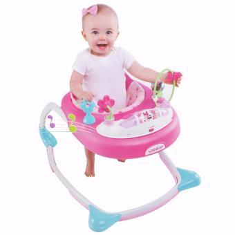 Weeler Bows and Butterflies Baby Musical Walker (Pink) - 5