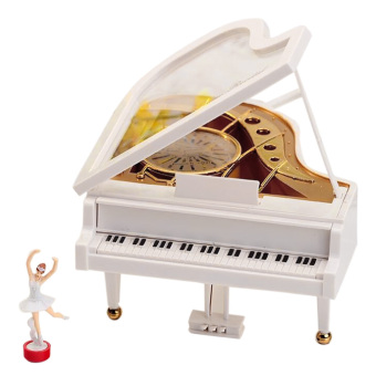 White Piano Model Mechanical Music Musical Box Gift