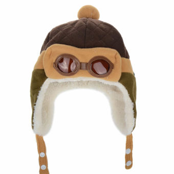 Winter Baby Earflap Toddler Girl Boy Kids Pilot Aviator Cap WarmSoft Beanie Hat (Coffee) (Intl)