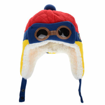 Winter Baby Earflap Toddler Girl Boy Kids Pilot Aviator Cap WarmSoft Beanie Hat (Red) (Intl)