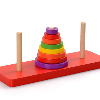 Wisdom pyramid Kindergarten Children's Early Childhood dimensional building blocks of Hanoi Tower
