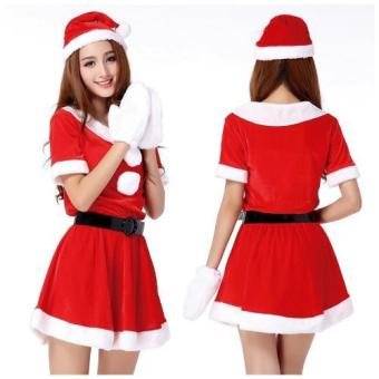 Women Santa Claus Christmas Costume Party Dresses - intl