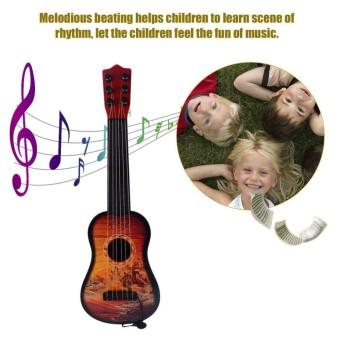 WOND 43cm Children Guitar 6-String Ukulele Adjustable Tuners Musical Instrument red - intl