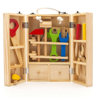 Wooden boy's Yi Zhi children's toys repair kit