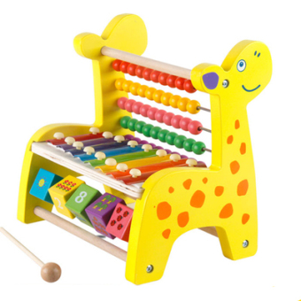 Wooden Children's Early Childhood Abacus knock piano wear beads Price Philippines