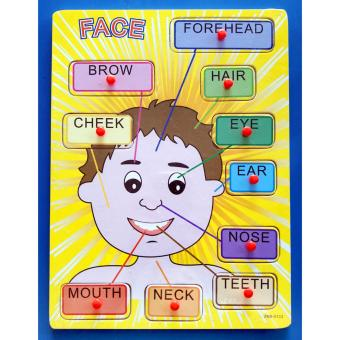 Wooden Inset Board Human Face Puzzle 1 - Educational andTherapeutic Toy