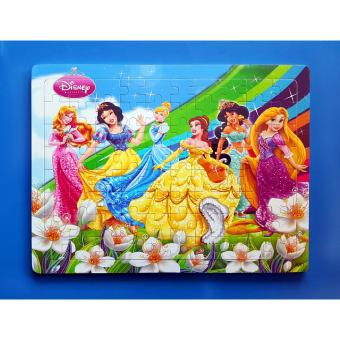 Wooden Jigsaw Puzzle Board Disney Princess - Educational Toy for Kids