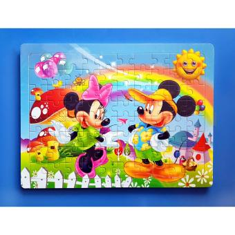 Wooden Jigsaw Puzzle Board Mickey and Minnie - Educational Toy forKids Price Philippines