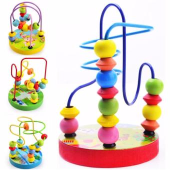 Wooden Ring Around Beads Maze - Educational and Therapeutic Toy