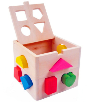 Wooden Shape Sorting Box - Educational and Therapeutic Toy for Kids - 4