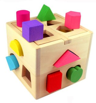 Wooden Shape Sorting Box - Educational and Therapeutic Toy for Kids