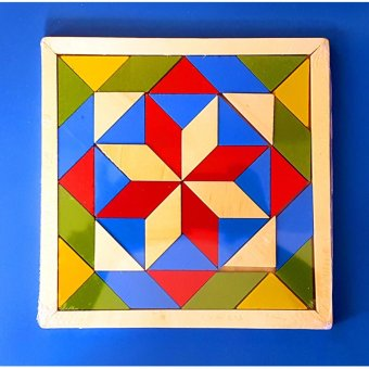 Wooden Tangram Puzzle Brain Teaser Intellectual Educational Toy