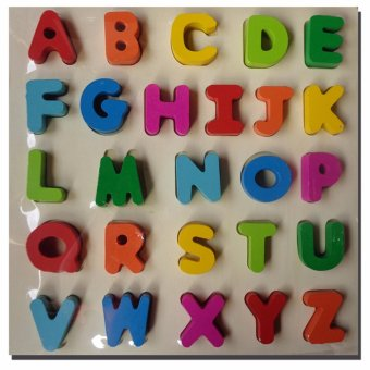 WOODEN TOYS FOR KIDS EMBOSSED LETTERS COLORED