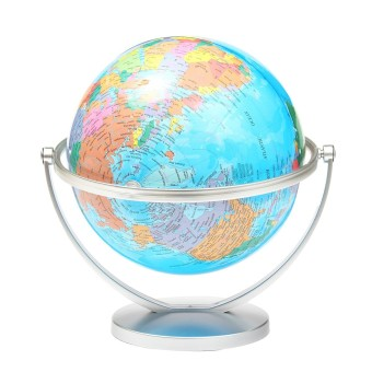 WORLD GLOBE Rotating Swivel Map of Earth Atlas Geography - intl