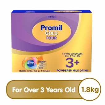 Wyeth(R) PROMIL GOLD(R) FOUR Powdered Milk Drink for Pre-Schoolers Over 3 Years Old, Bag in Box, 1.8kg x 1