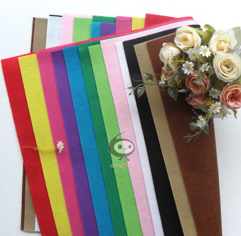 Xiaobalazi 45cm fabric multi-color felt cloth hand material