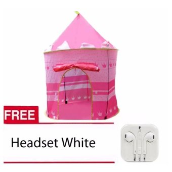 XZY-Cubby House Tent for Kids (Pink)with Free Headset White