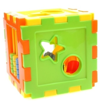 YBC 10 Shapes Blocks Plastic Model Building Kits Educational Toys For Children