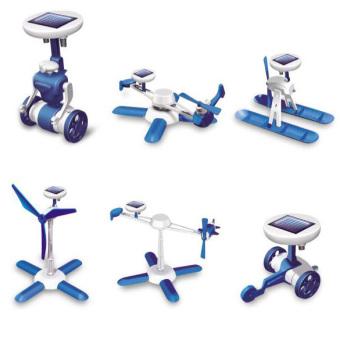 YBC 6 in 1 Solar Toy Educational Robots Plane Kit Creative Kid Gift- intl - 2