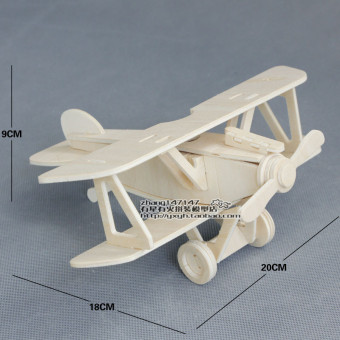 Yi Zhi wooden 3D model airplane