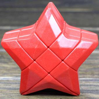 Yj Five-pointed Star Rubik's Cube Red Magic Cube - intl