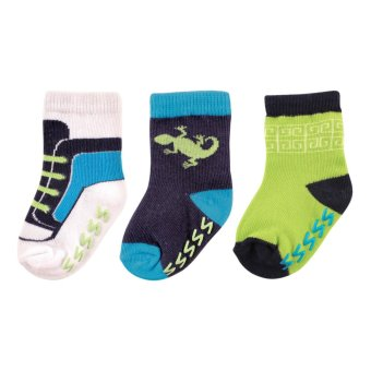 Yoga Sprout Boys Non-Skid Socks 3 Pieces for 0-6 Months Old Price Philippines
