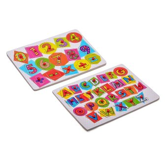 Young Mindz Wooden Alphabet and Numbers Peg Puzzle